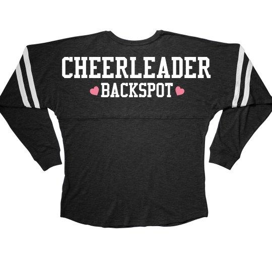 Cute Cheerleader Backspot Girl