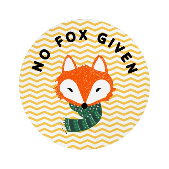 Cute Chevrons No Fox Given