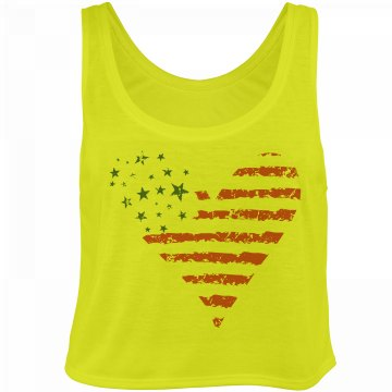 Cute Crop American Heart