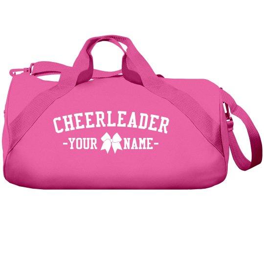 Cute Custom Cheerleader Name Cheer Bow Bag