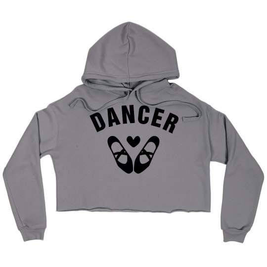 Cute Custom Dance Crop Sweatshirt