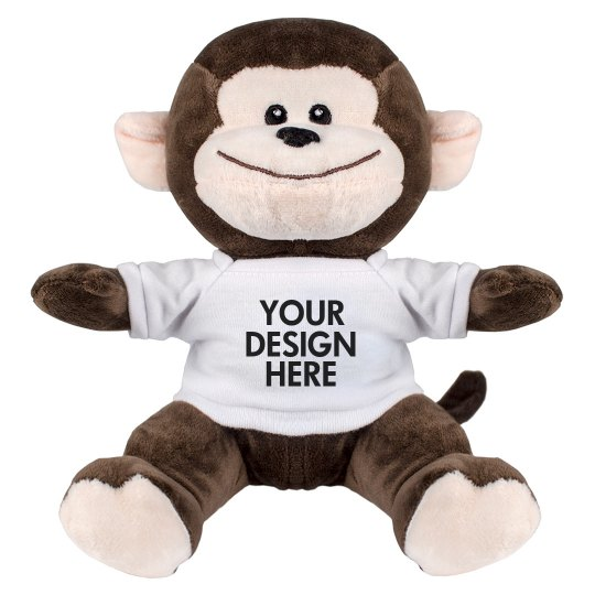 Cute Custom Monkey Stuffed Animal