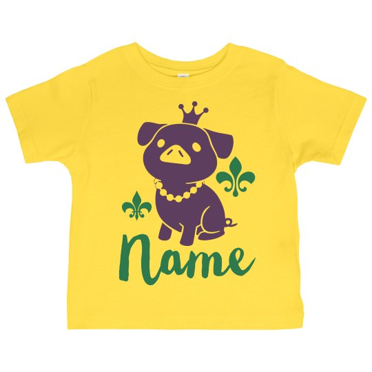 Cute Custom Name Toddler Mardi Gras