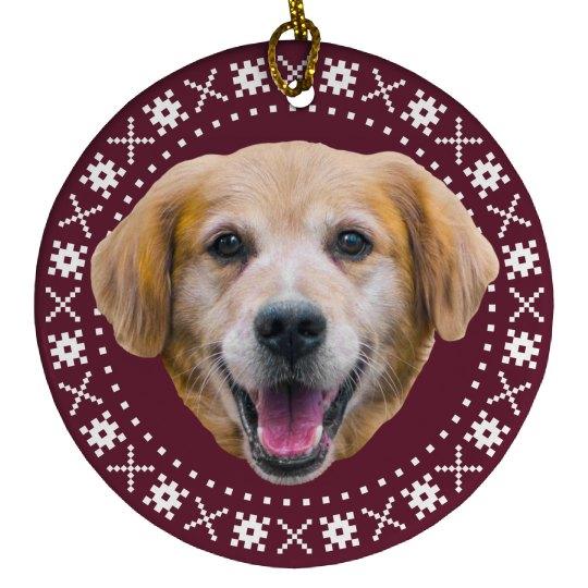 Cute Custom Pet Face Christmas