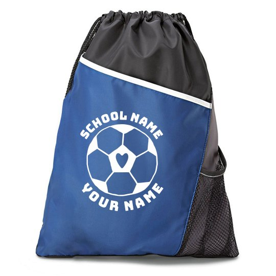 Cute Custom Soccer Cinch Bag