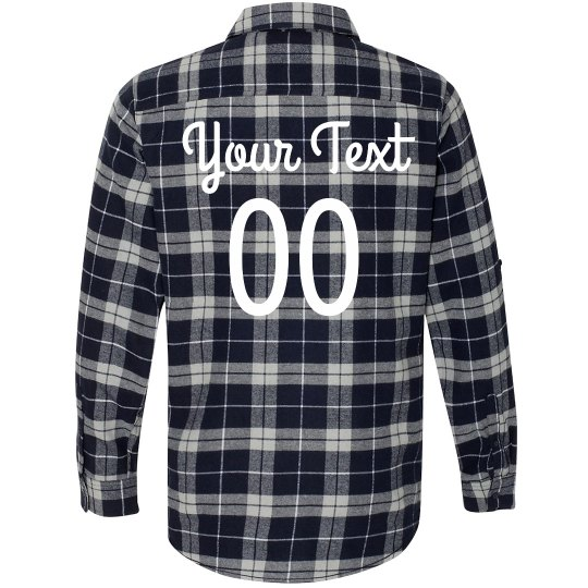 Cute Custom Sports Flannel