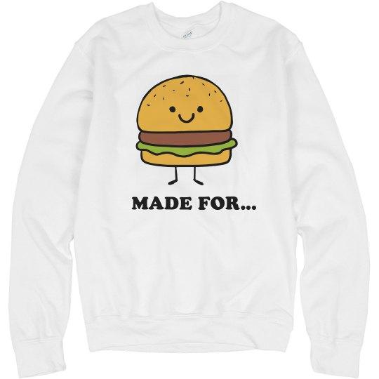 Cute Fast Food Couple Burger