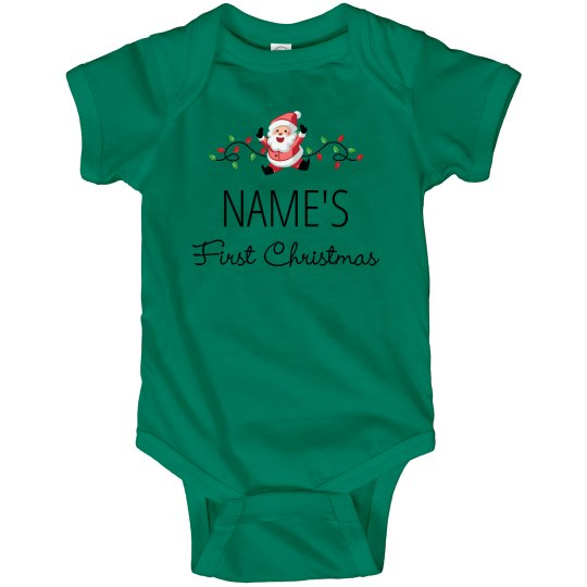 Cute First Christmas Baby Bodysuit