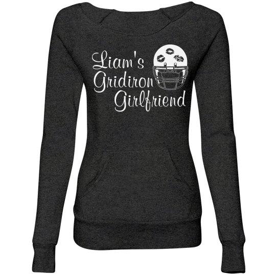 Cute Football Girlfriend Sweater With Custom Text