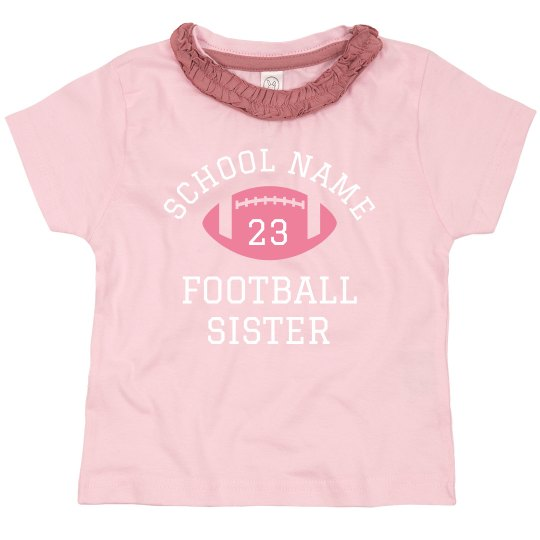 Cute Football Little Sister Custom