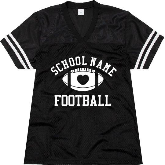 Cute Football Mom Football Jersey With Custom Number