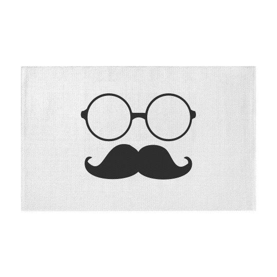 Cute Glasses And Mustache Design