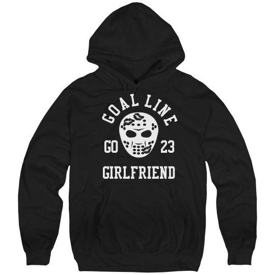 Cute Hockey Girlfriend Hoodie With Custom Number