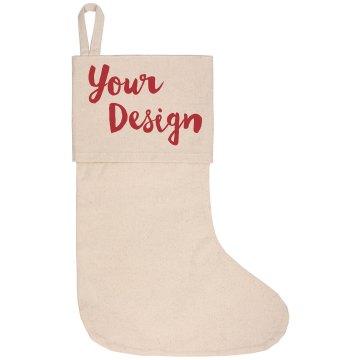 Cute Holiday Stocking Custom Design