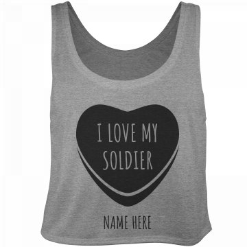 Cute I Love My Soldier Heart