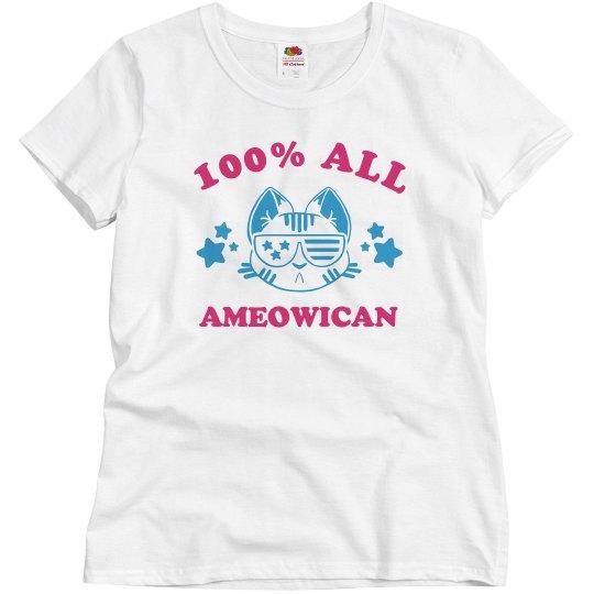 Cute I'm 100% All Ameowican