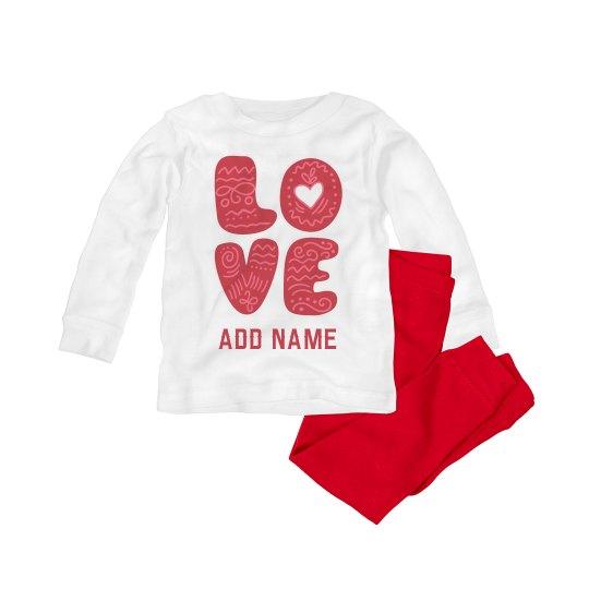 Cute Love Valentine Custom Baby