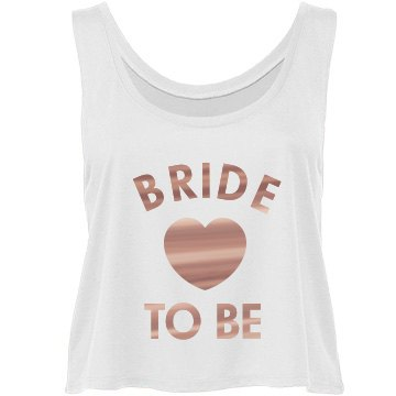 Cute Metallic Bride To Be