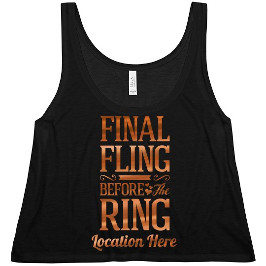 Cute Metallic Final Fling Design