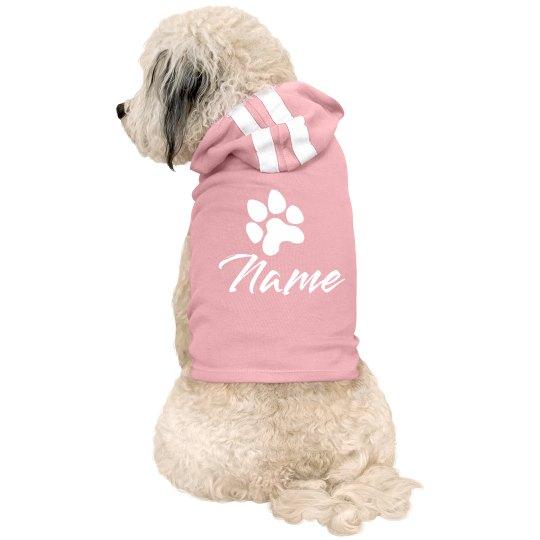 Cute Paw Print Custom Dog Name