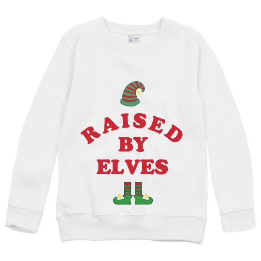 Cute Raised By Christmas Elves