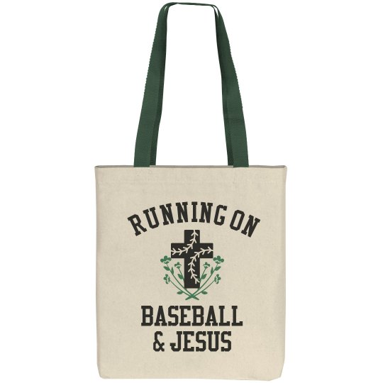 Cute Running On Baseball & Jesus