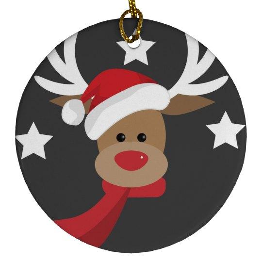 Cute Santa Claus Reindeer