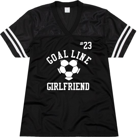 Cute Soccer Girlfriend Jersey With Custom Number