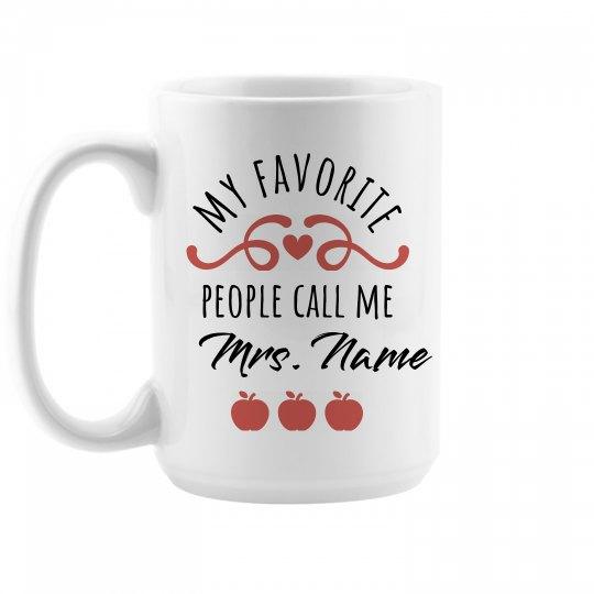 Cute Teacher Appreciation Mug