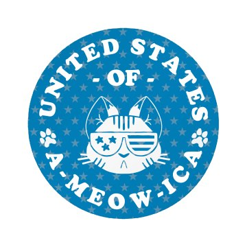 Cute United States Of A-Meow-ica