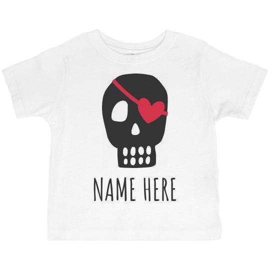 Cute Valentine Pirate Custom Name