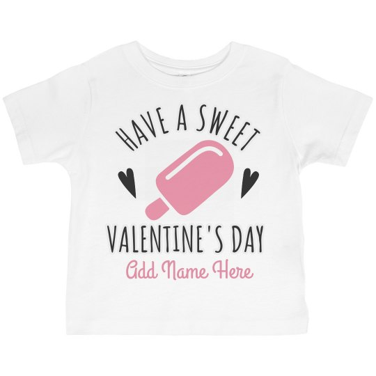 Cute Valentine's Day Tee For Girls
