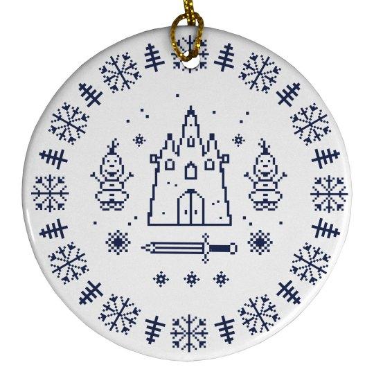Cutest Arendelle Ice & Snow Christmas Tree Ornament