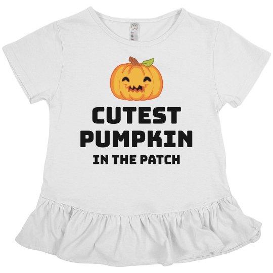 Cutest Pumpkin Ruffle Tee