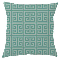 Greenleaf Greek Key Pattern Throw Pillow Cover