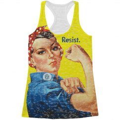 Rosie Resists All Over Print Tank