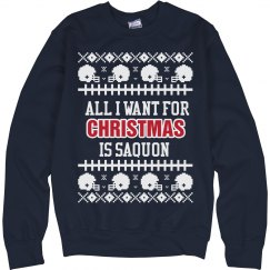 I Want Saquon for my Ugly Christmas Sweater