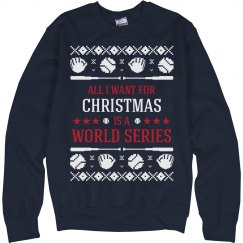 Baseball Ugly Sweater Cleveland