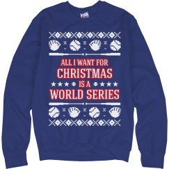 Baseball Ugly Sweater Chicago