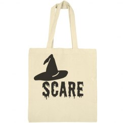 Halloween Scare Witch Hat Tote