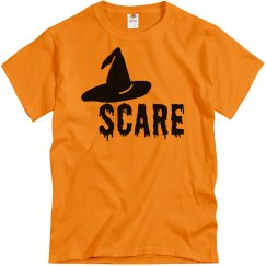 Halloween Scare Witch Hat Tshirt