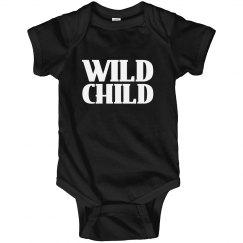 Wild Child Baby Boy Girl Snap Tshirt