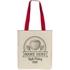 Vintage Custom Name Apple Tote