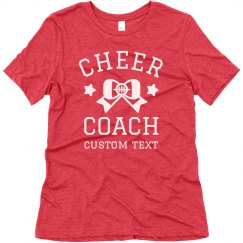 Cheer Coach Custom Tee