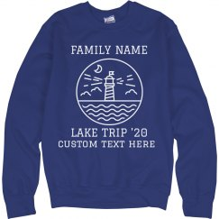 Custom Family Lake Trip Sweatshirt