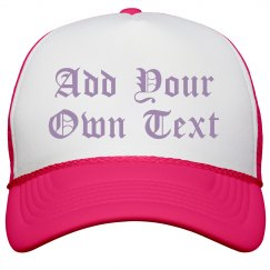 Custom Gothic Style Neon Hat