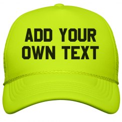 Personalize a Custom Printed Neon Hat