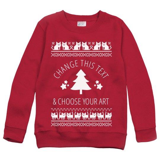 Custom Christmas Sweaters.Custom Cat Ugly Christmas Sweaters
