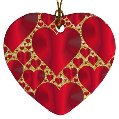 Red Hearts & Gold