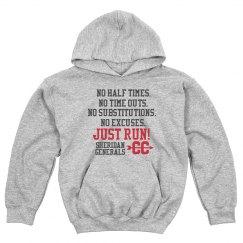 Run hard hoodie - note this hoodie runs small